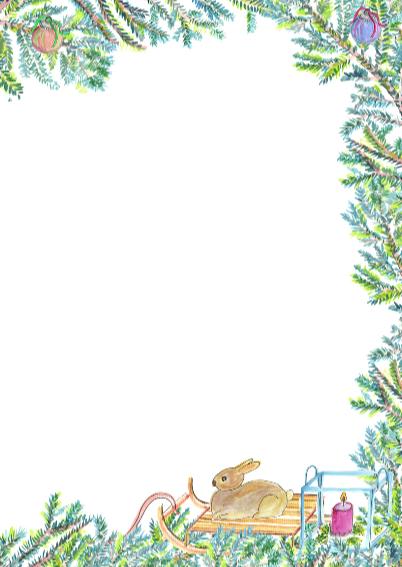Gezellige kerstkaart met boom 3