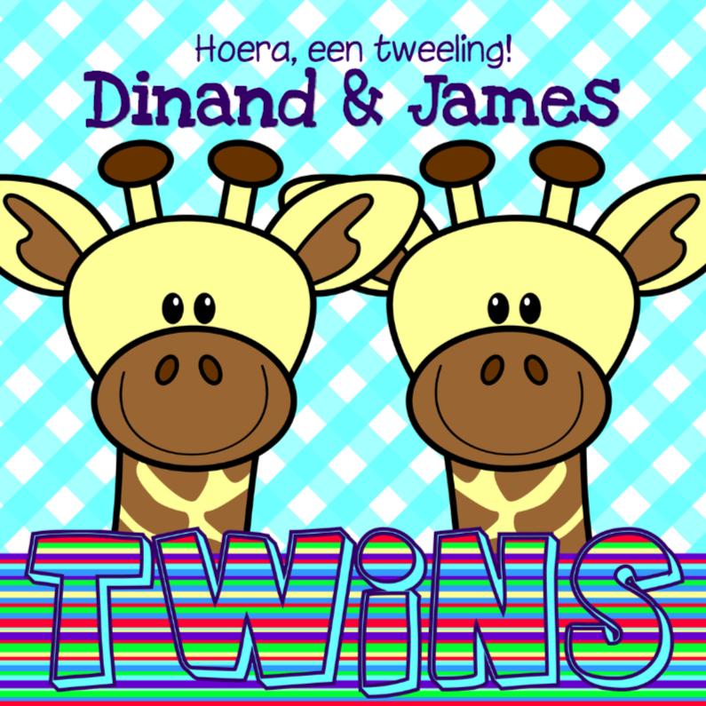 Giraffes   jongens tweeling 1