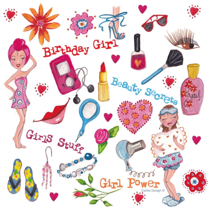 Girls Stuff Jarig Cartita Design 1