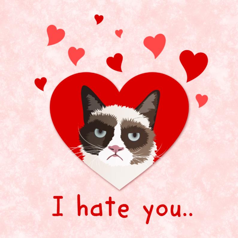 Grumpy Cat verliefd 1