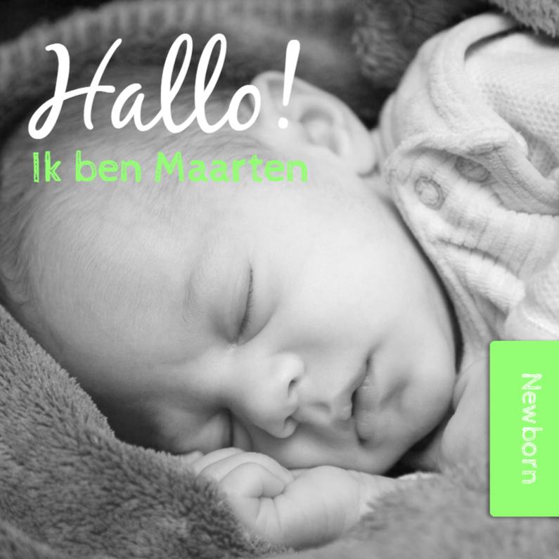 Hallo ik ben - groen - DH 1