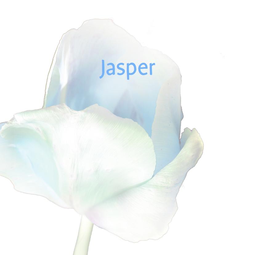 Handgetekende baby in bloem 3