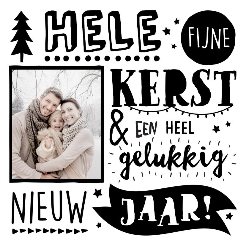 Handlettering Kerstkaart NL Foto 1