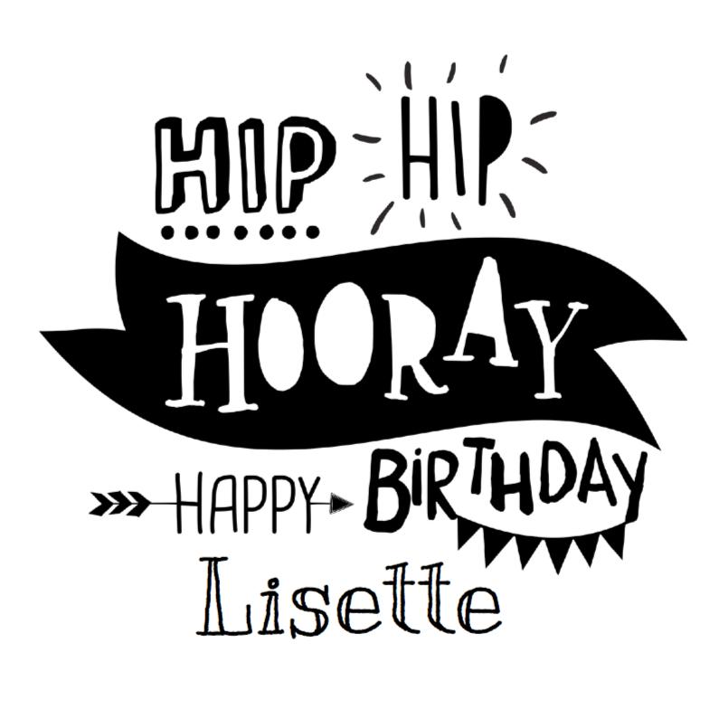 Handlettering Typo Verjaardag