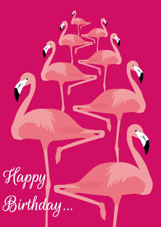 Happy birthday flamingo's 1