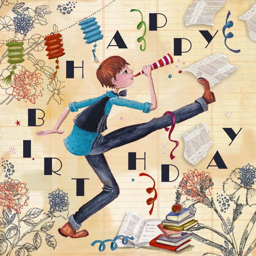 Happy Birthday Jongen Feest Illustratie 1