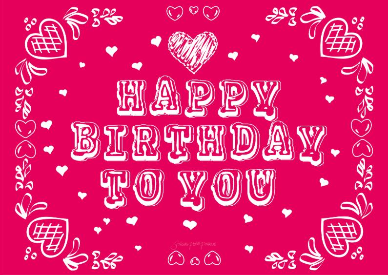 Happy Birthday met hartjes 1