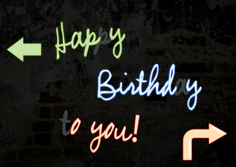 Happy birthday neon 1