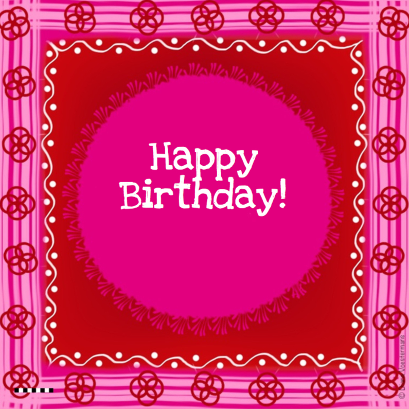 Happy Birthday pink red 1
