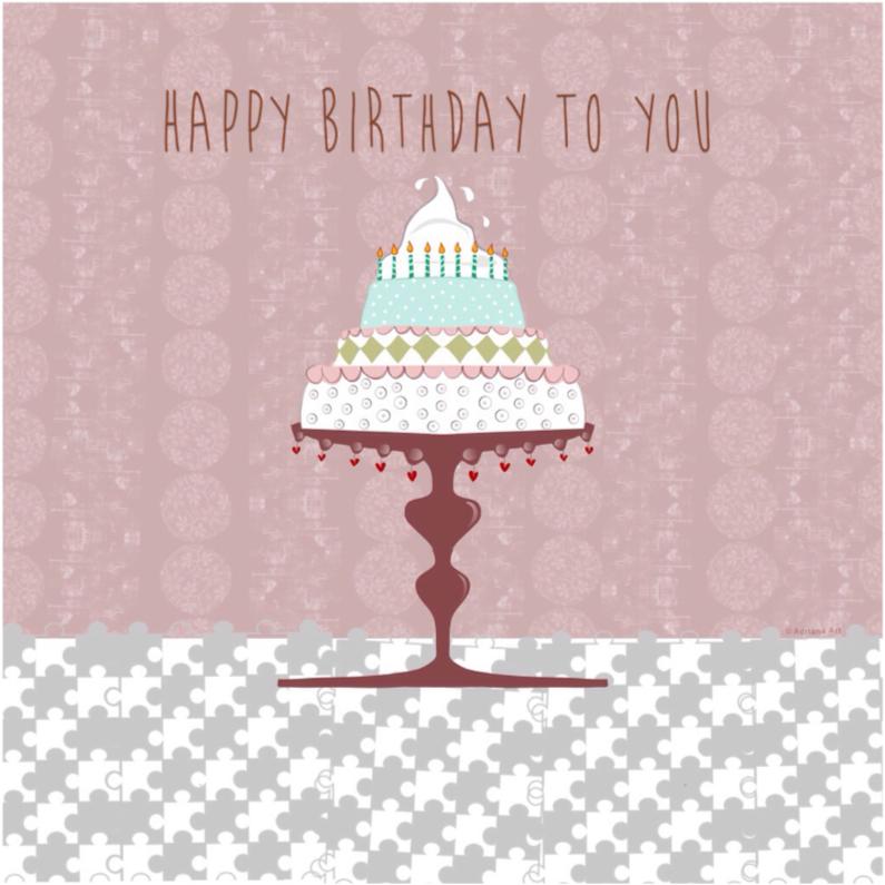 happy birthday taart pastel 3 1