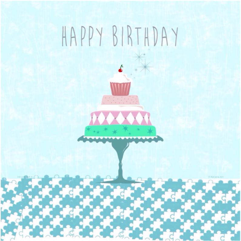 Happy birthday taart pastel 1
