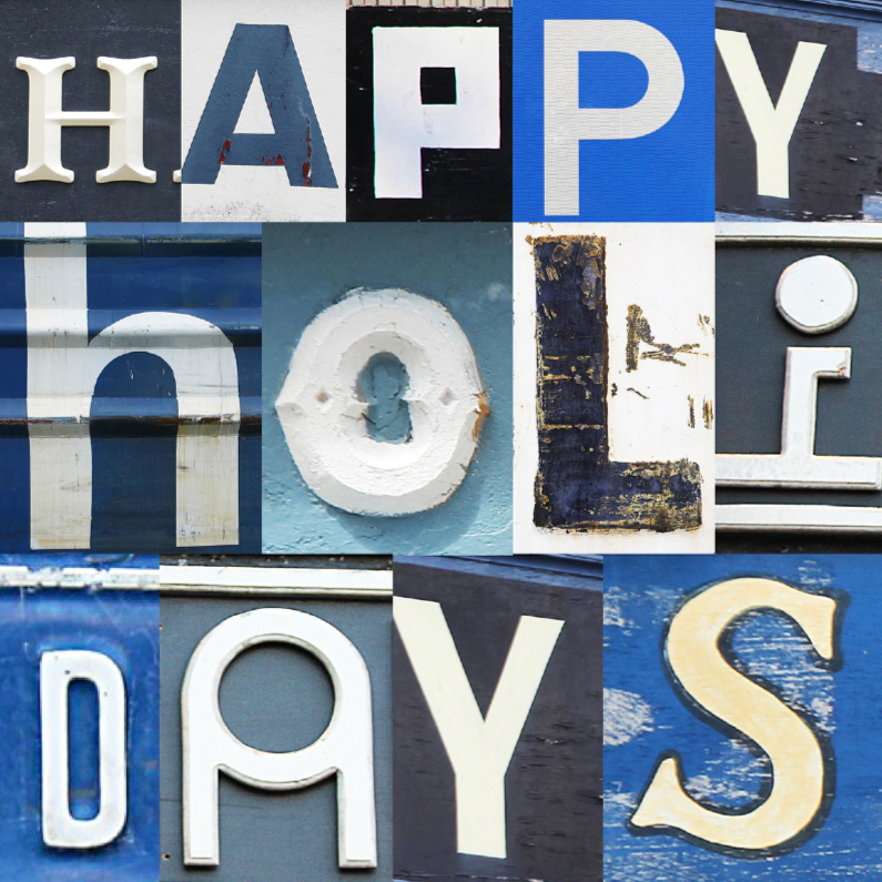 Happy holidays in letters 1