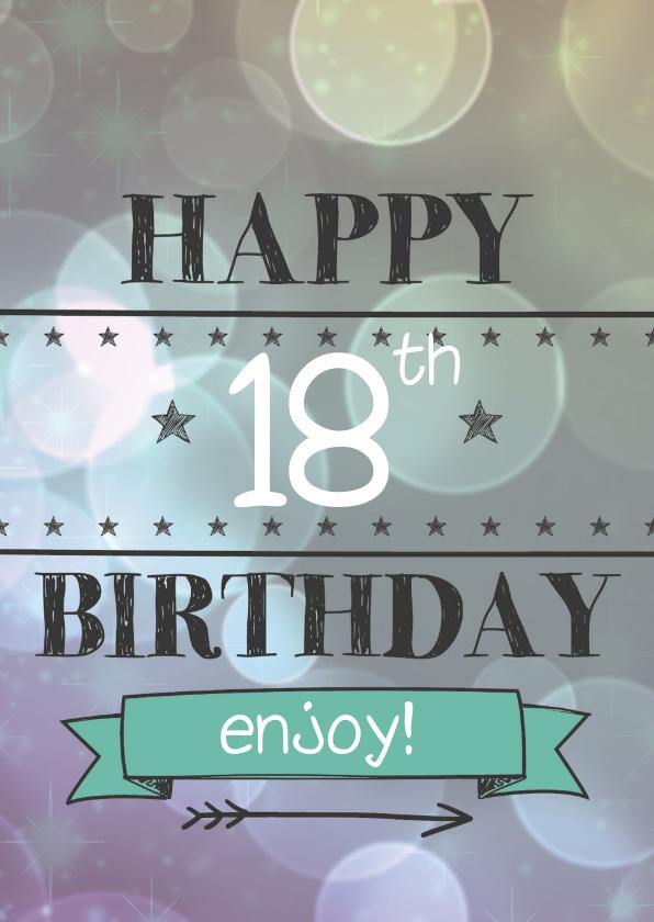 Happy leeftijd birthday-enjoy 1