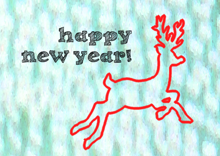Happy New Year reindeer 1