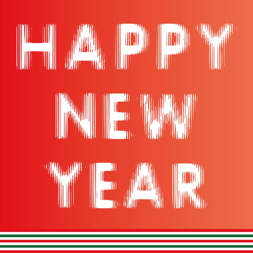 Happy New Year rood en groen 1
