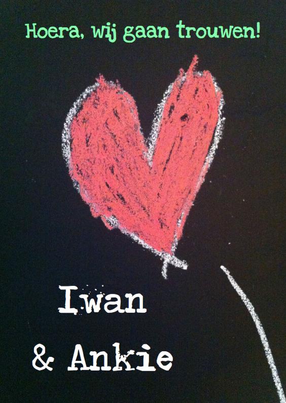 hart krijt trouwkaart 1