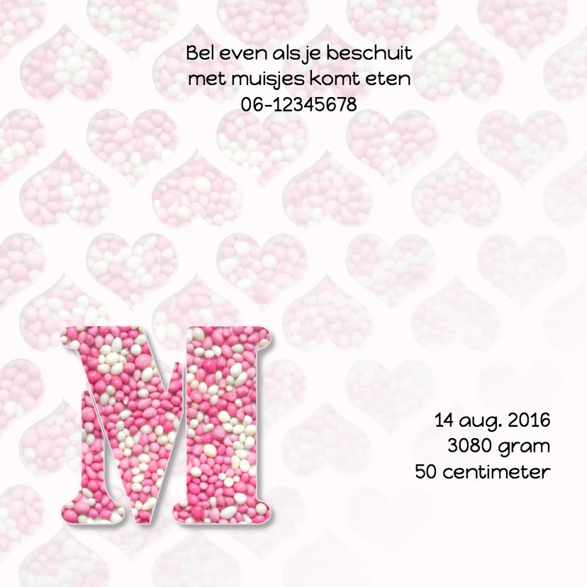Hartjes met roze muisjes 2