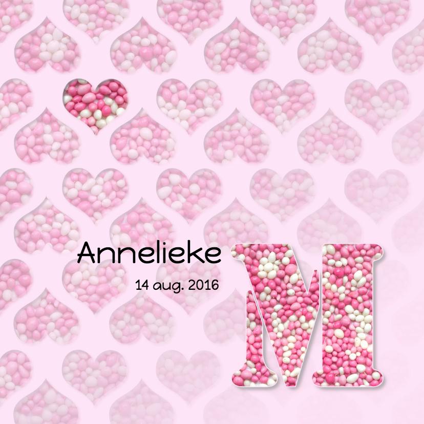 Hartjes met roze muisjes 1
