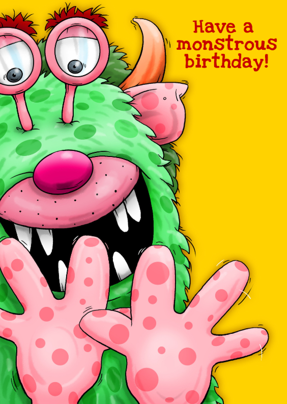 Have a  monstrous birthday 1