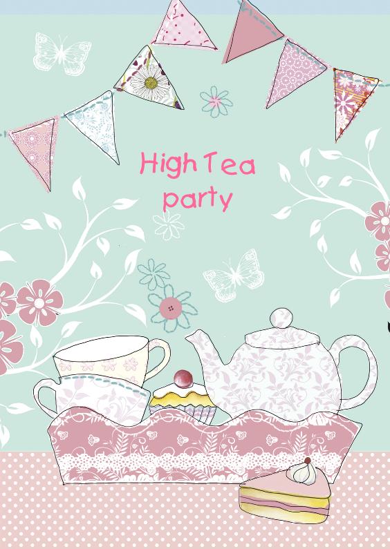 high tea met dienblad en vlaggetjes 1