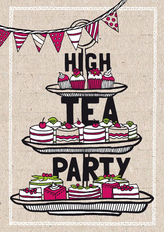 High tea party uitnodiging 1