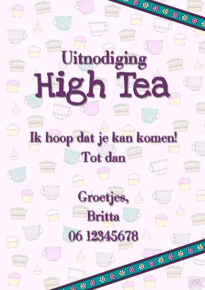 High Tea uitnodiging PARTY GIRLS 3
