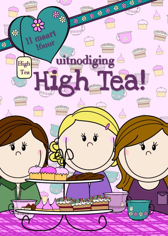 High Tea uitnodiging PARTY GIRLS 1