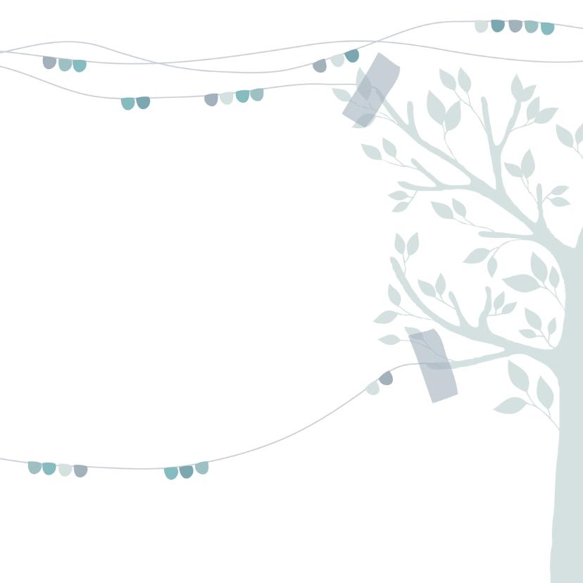 Hip geboortekaartje boom hert j 3