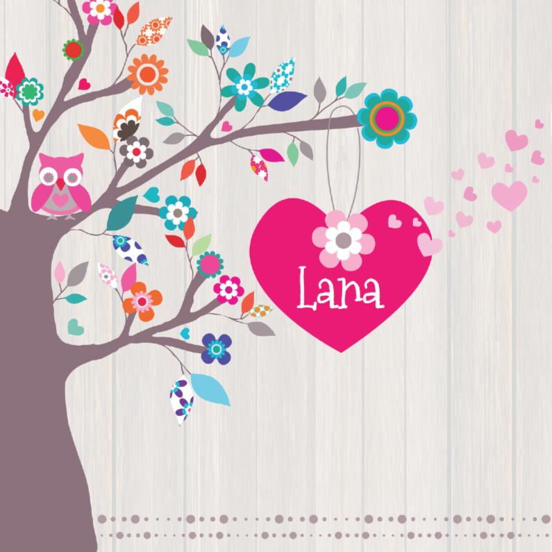 Hip Geboortekaartje Boom Lana 1