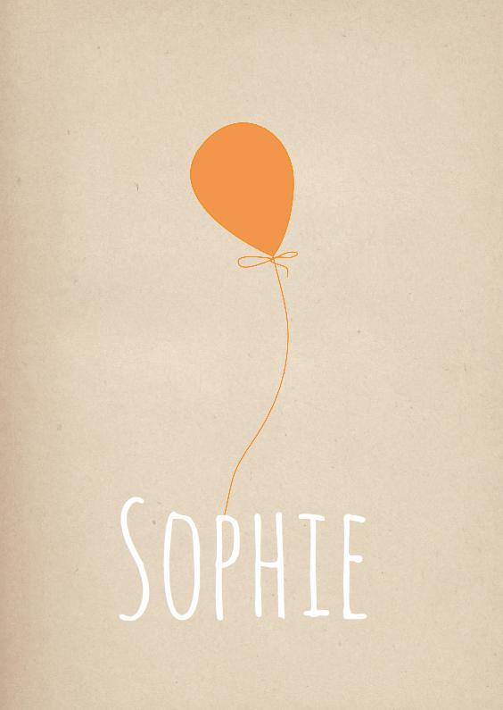 Hip Geboortekaartje Sophie  1