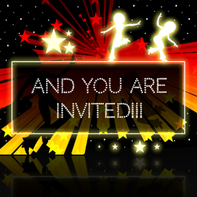 HIP RETRO DANCE PARTY INVITATION 2