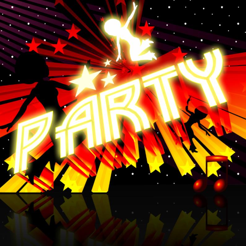 HIP RETRO DANCE PARTY INVITATION 1