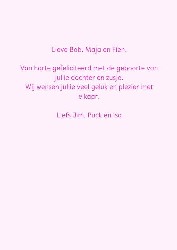 Hoera een meisje, slinger roze 3
