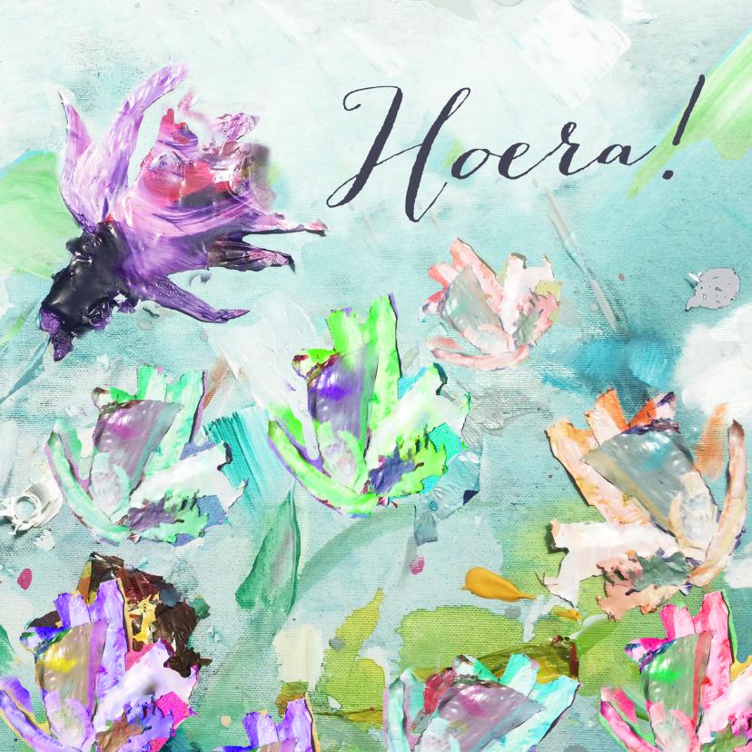Hoera geschilderde bloemen 1