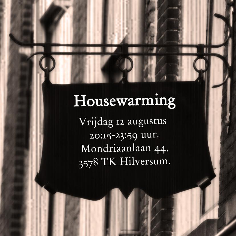 Housewarming bord zelf invullen 1