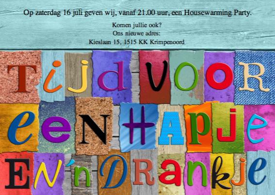 Housewarming Party, Tijd voor... 3