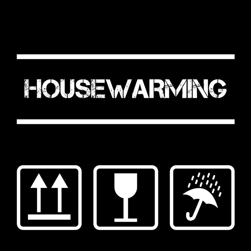 Housewarming pictogrammen zwart 1