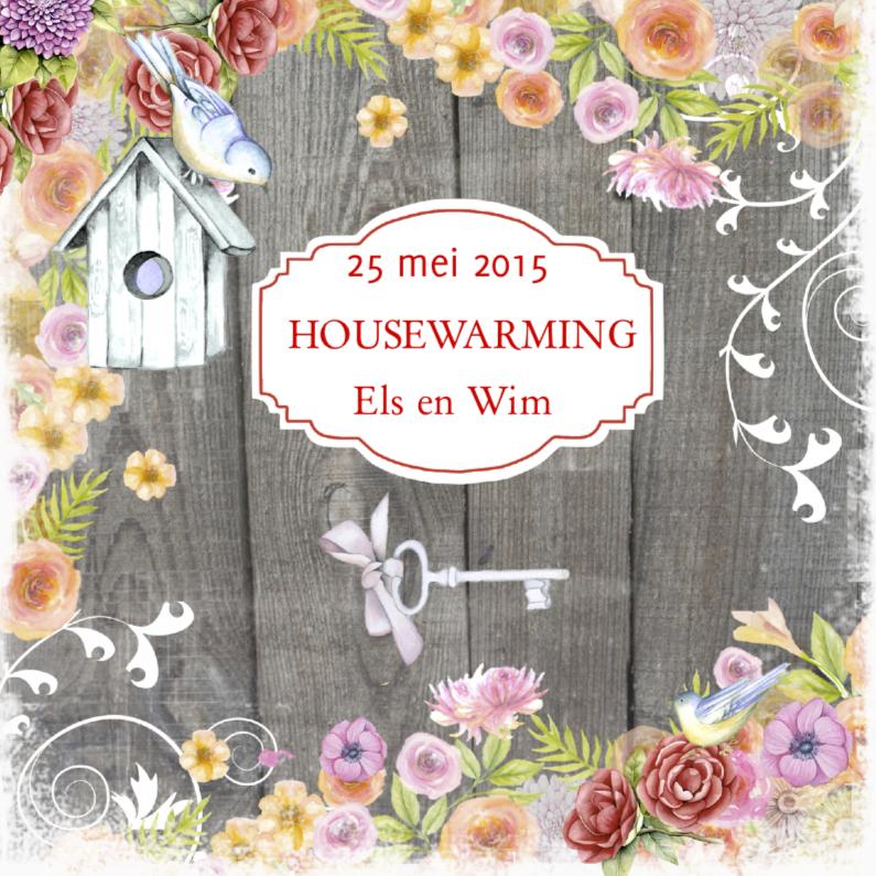 housewarming vogelhuis hout 1