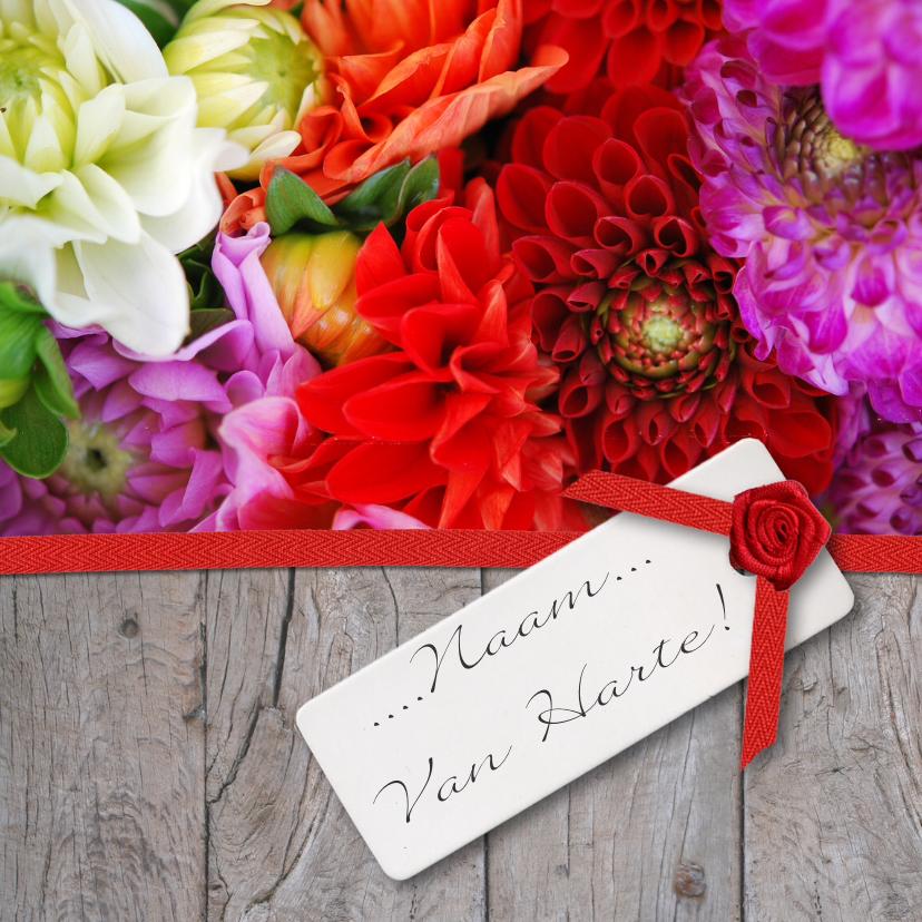Hout lint en bloemen 1