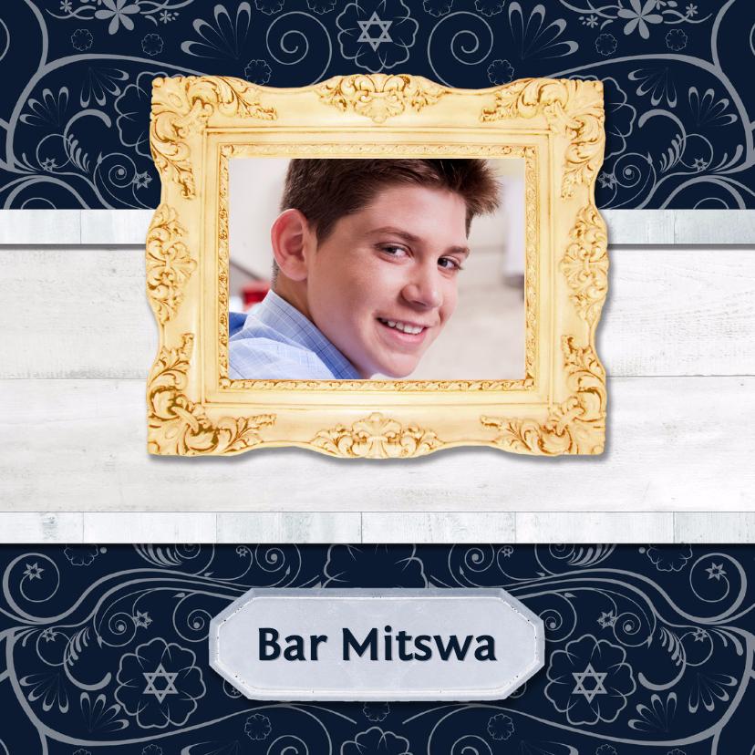 Hout met Label Bar Mitswa - BK 1