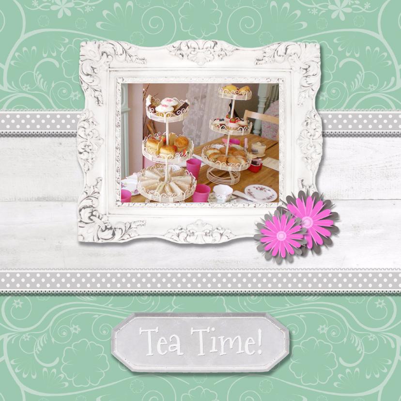 Hout met Label Tea Time - BK 1