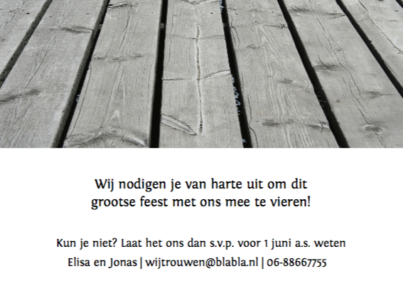 houten brug trouwkaart 3