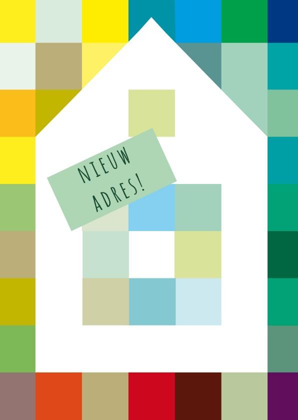 Huis op kleuren en eigen tekst 1