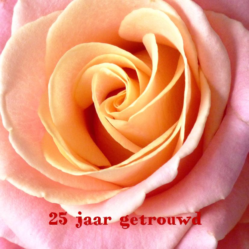 Huwelijksjubileum 25 jaar roos 1
