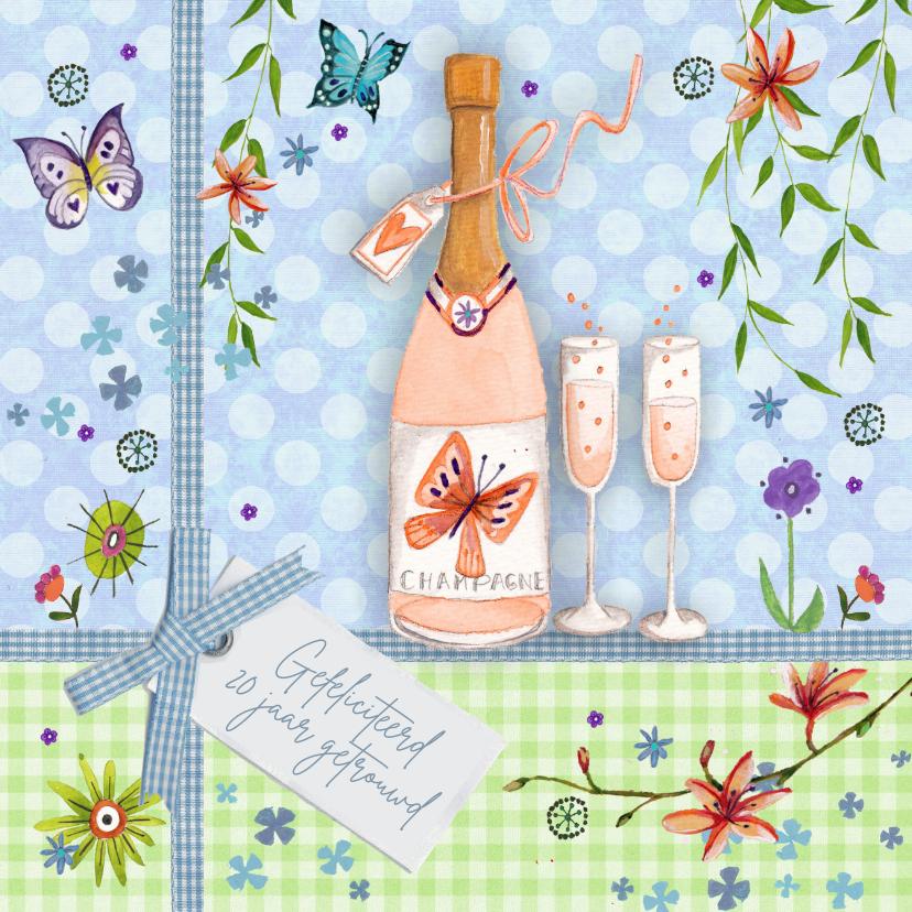 huwelijksjubileum champagne 1