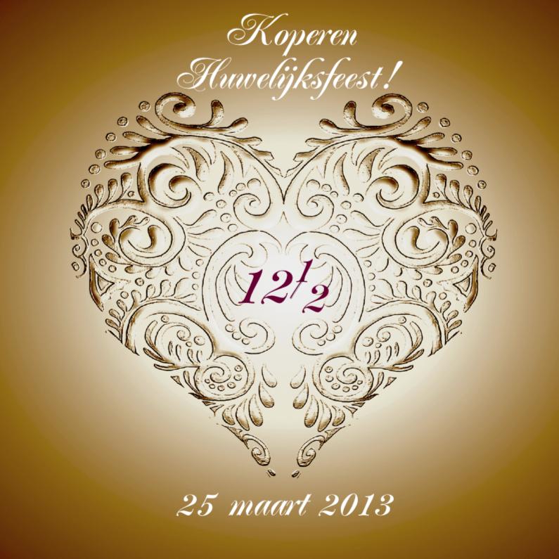 huwelijksjubileum koper met hart 1