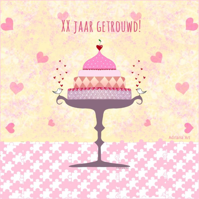 huwelijksjubileum pastel taart 1