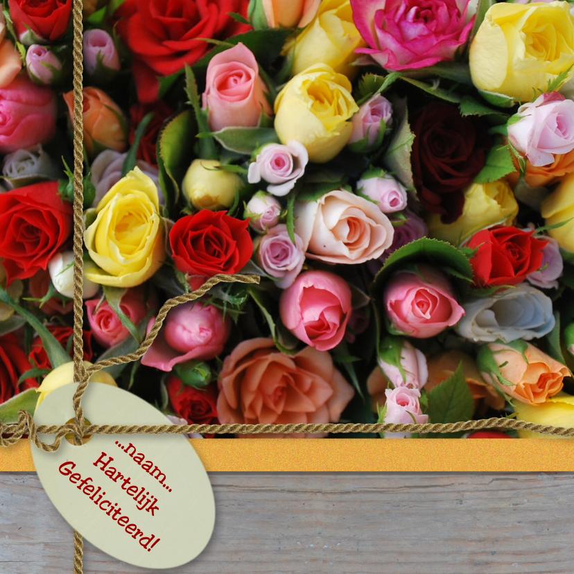 Italiaanse rozen hout label lint 1