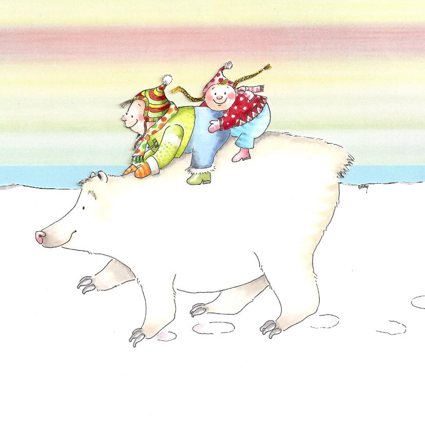 Jan en Jitka op de ijsbeer 1