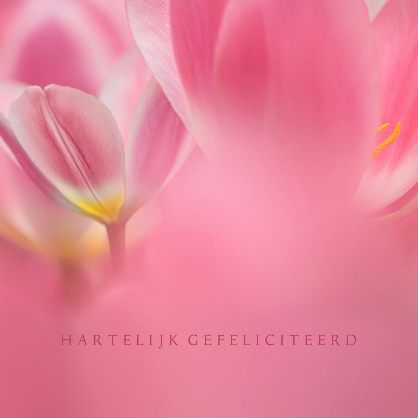 Jarig met roze tulpen 1